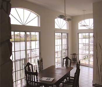 condo waterfront dining room